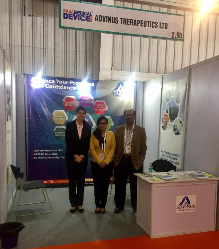 Advinus Exhibited at India Medical Device 2017
