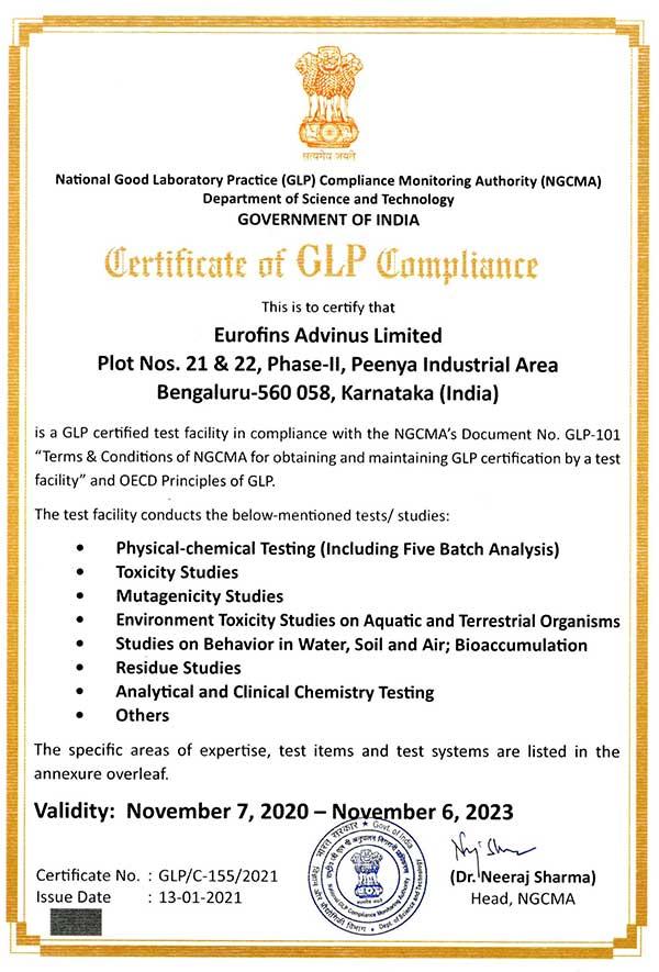 Eurofins-Advinus-NGCMA-GLP-Certificate